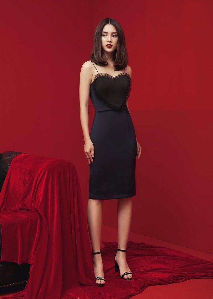 Đầm Body 2 Dây Valentine - Xanh đen
