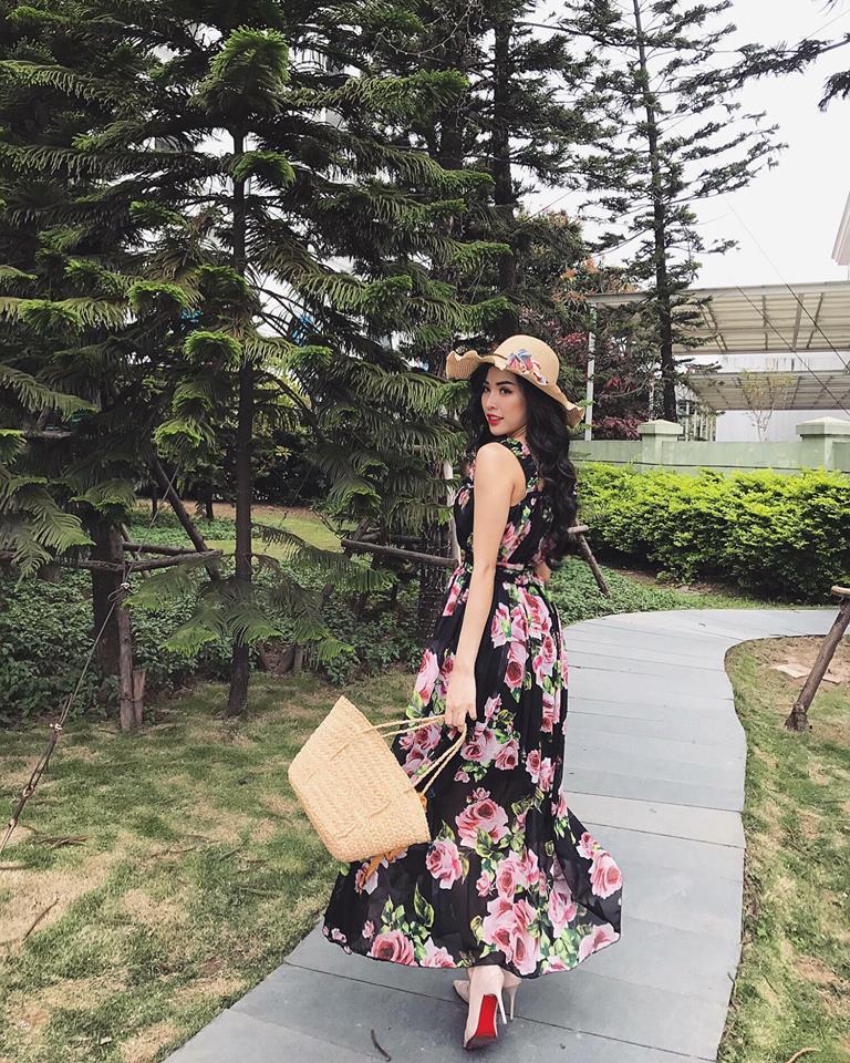 Đầm Maxi Hoa Hồng 2 Dây