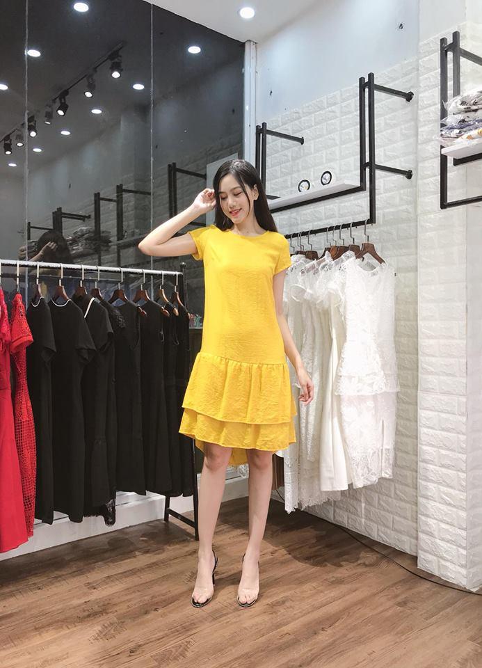 Đầm Suông Tay Con 2 Tầng Đuôi Cá