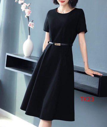 Đầm xòe tay con đen