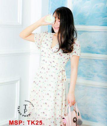 Đầm xòe hoa nhí tk25