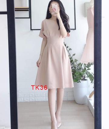 Đầm Xòe Tay Cánh Dơi TK36