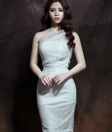 Đầm Ren Lệch Vai Luxy Cao Cấp