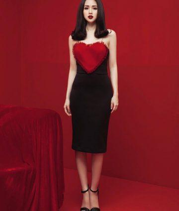 Đầm Body 2 Dây Valentine
