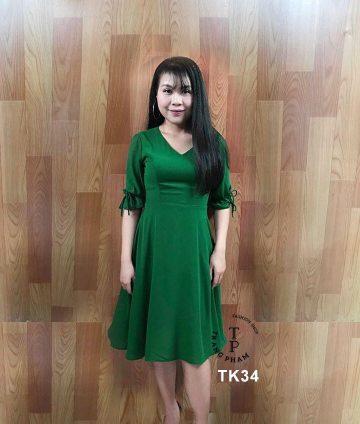 Đầm xòe cổ tim TK34