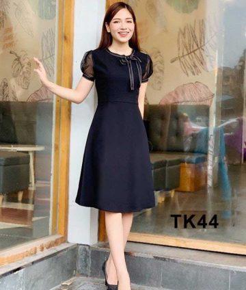 Đầm xòe tay lưới TK44