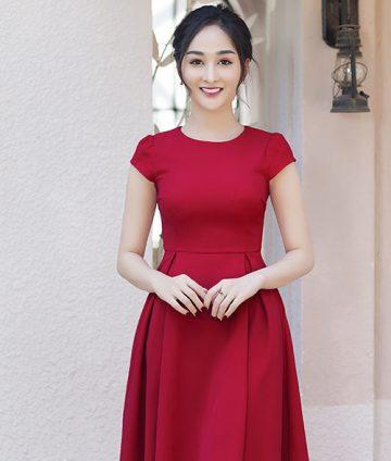 Đầm Xòe Tay Con Xếp Ly