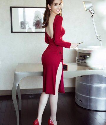 Đầm Body Sexy Thiết Kế Lưng V Đẹp Như Ngọc Trinh