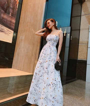 Đầm Maxi Nhún Ngực 2 Dây