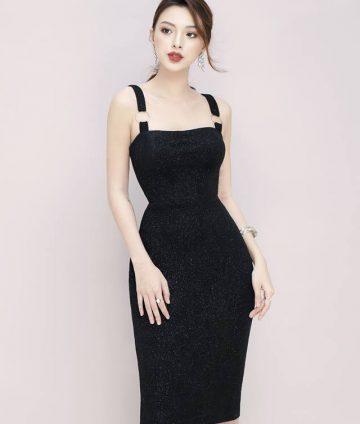 Đầm Boby Thun Ánh Kim Khoen Tròn